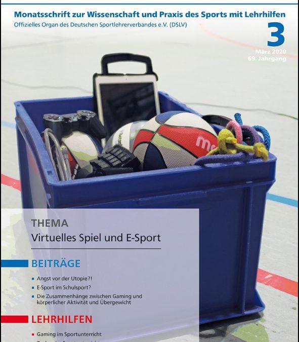 Neue Ausgabe der Zeitschrift Sportunterricht: März 2020