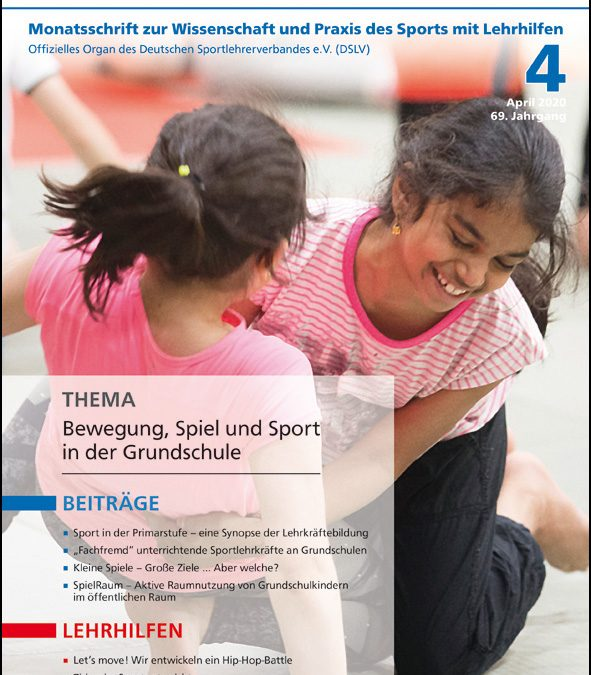 Neue Ausgabe der Zeitschrift Sportunterricht: April 2020