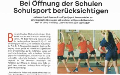 Artikel: Corona & Schulsport