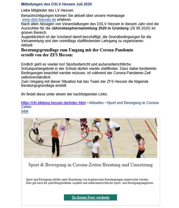 Mitteilungen des DSLV Hessen Juli 2020