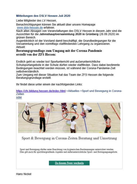 Artikel:Corona&Schulsport