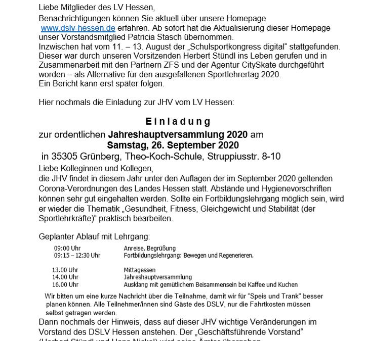 Mitteilungen des DSLV September 2020