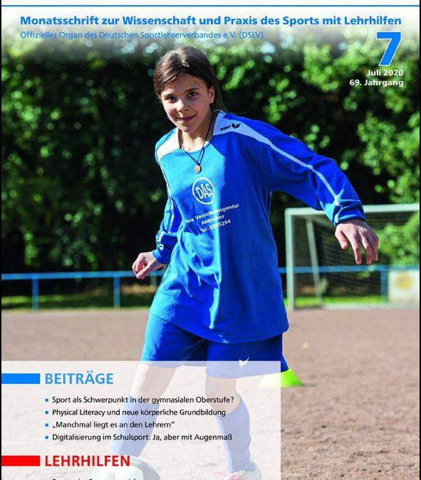 Neue Ausgabe der Zeitschrift Sportunterricht: Juli 2020