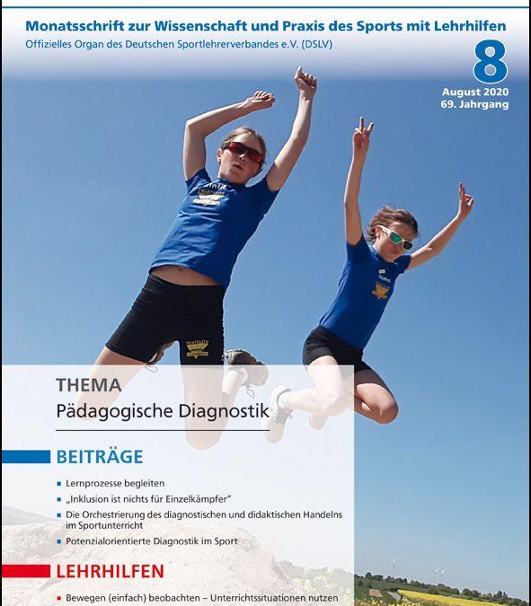Neue Ausgabe der Zeitschrift Sportunterricht: August 2020