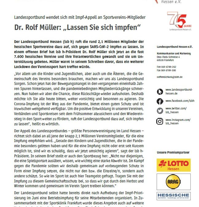 Presse.Information – IMPFAPPELL